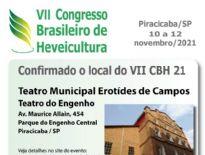 📢 ATENÇÃO: PRORROGADO INSCRIÇÕES ATÉ 18/10: VII Congresso Brasileiro de Heveicultura - VII CBH 2021, Piracicaba-SP