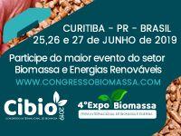 4ª Congresso Internacional de Biomassa (CIBIO 2019)  e 4ª Expobiomassa